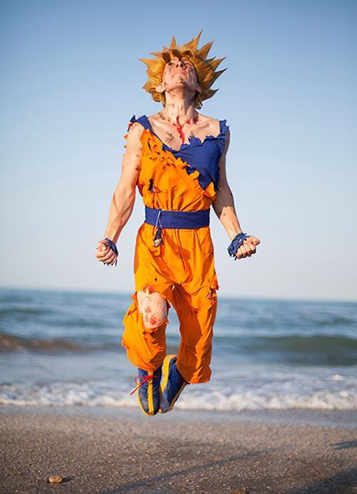 Goku-flying-cosplay | Epic Geekdom Real Snowflake