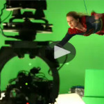 Behind the scenes of supergirl