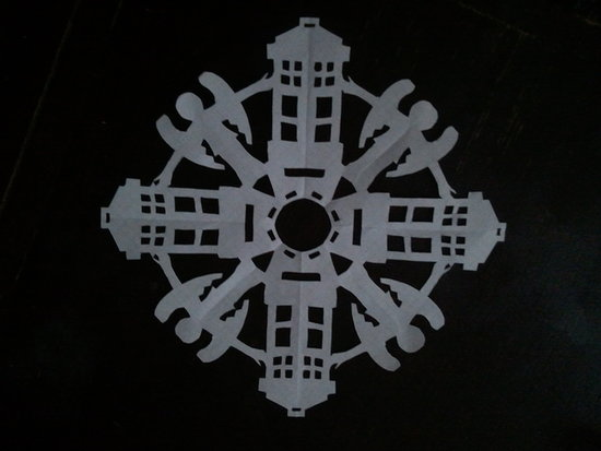 Found Some Doctor Who Snowflakes All Over The Internet Here Are A Few Of Best