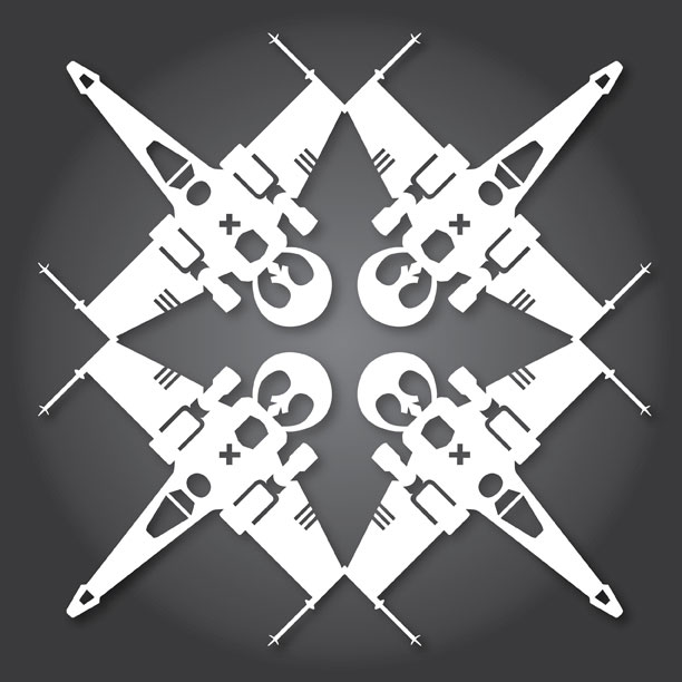 A Gallery Of Star Wars Snowflakes Epic Geekdom